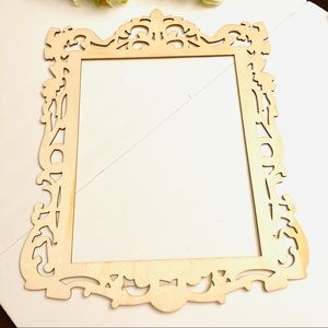 Large thin wood decorative frame crafting new